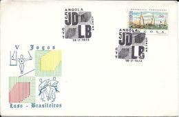 REPUBLICA PORTUGUESA ANGOLA 5 JOGOS DESPORTIVOS LUSO BRASILEIROS AÑO 1972 BENGUELA CTT YACHTING APARATOS JUDO - Angola