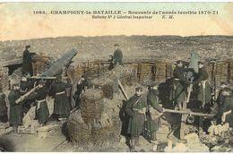 CPA N°7648 - CHAMPIGNY LA BATAILLE - SOUVENIR DE L' ANNEE TERRIBLE 1870-71  BATTERIE N°2 GENERAL INSPECTEUR - MILITARIA - Champigny Sur Marne