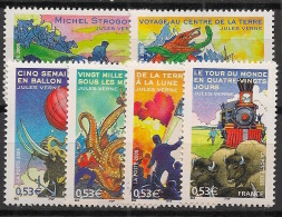 France - 2005 - N°Yv. 3789 à 3794 - Jules Verne - Neuf Luxe ** / MNH / Postfrisch - Schriftsteller