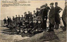 CPA Militaire, Malay Le Grand - Les Tranchees (362337) - Militaria