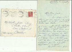 Enveloppe Timbrée  Lettre De Melle CRUZAL A Montauban 82 _Adressé A Melle Josette  SARROY  A CANNES  06 En 1949 - Marcofilie (Brieven)