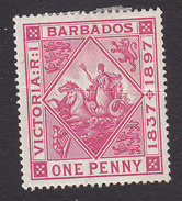 Barbados, Scott #83, Mint Hinged, Badge Of The Colony, Issued 1897 - Barbados (...-1966)