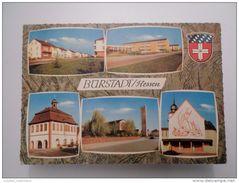 POSTCARD & STAMPS YEAR 1973 GERMANY ALLEMAGNE DEUTSCHLAND BURSTADT HESSEN MULTI VIEWS - Buerstadt