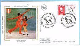 FDC Enveloppe Premier Jour 08/02/1990 ALBERTVILLE 73 - XVIe J.O D'HIVER - PATINAGE ARTISTIQUE - 1990-1999