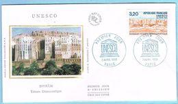 FDC Enveloppe Premier Jour 07/04/1990 PARIS - UNESCO SHIBAM - 1990-1999