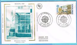 FDC Enveloppe Premier Jour 28/04/1990 CERIZAY - EUROPA 1990 BÂTIMENT POSTAL - 1990-1999