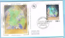 FDC Enveloppe Premier Jour 03/03/1990 BORDEAUX - ODILON REDON - 1990-1999