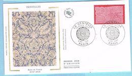 FDC Enveloppe Premier Jour 03/02/1990 PARIS - LA DENTELLE - 1990-1999