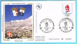 FDC Enveloppe Premier Jour 08/02/1990 ALBERTVILLE 73 - XVIe J.O D'HIVER - 1990-1999