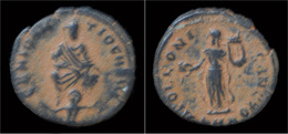 Anonymous Pagan Civic Coinage Under Maximinus II Daza AE Quarter Nummus - 7. L'Empire Chrétien (307 à 363)