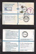 S.Africa, Registered 91c (+ 75c To Pay) ,UITENHAGE 30 III 89 > CLAREINCH 31 III 89, DEPOT RONDEBOSCH  Transit - Covers & Documents