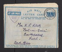 APO-U-MPK 5,  8 X 44 Air Letter > South Africa,,British Censor 5687, - South Africa (...-1961)