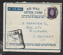EGYPT PREPAID 7 FE 42 Air Letter , 3d GB Stamp > Rhodesia, Censor No 794 - South Africa (...-1961)