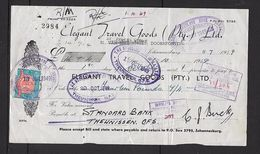 South Africa George VI, 1949, 6d Revenue On Elegant Travel Goods Promissory Note - Standard Bank, Theunissen - South Africa (...-1961)