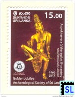 Sri Lanka Stamps 2016, Archaeological Society, MNH - Sri Lanka (Ceylon) (1948-...)