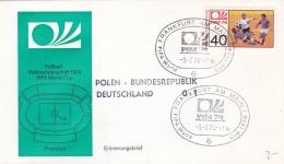 Germany Cover 1974 FIFA World Cup Football - Frankfurt Am Main Poland-Germany 0:1 (T17-31) - Coppa Del Mondo