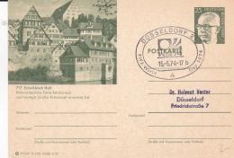 Germany Postal Stationary P/m Düsseldorf FIFA World Cup Football 1974   (T17-31) - Coppa Del Mondo