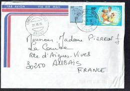 1986  Lettre Avion Pour La France  - Commission Nationale Pour L'UNESCO - Gabon (1960-...)