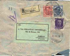 Lettre Recommandée De Turin Pour La France - 26/11/1929 - Marcofilía