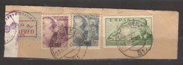 6770- Spain , Espana – Piece From Air Mail Cover With German Censor – 23 Dec. 1941 - - Poste Aérienne
