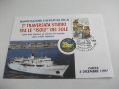 NAVE SHIP SCUOLA GIORGIO CINI  NAUTICA GUARDIA DI FINANZA  DI GAETA 1997 - Guerra