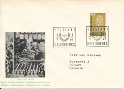 Finland FDC 6-9-1967 Paper Industry With Cachet Sent To Denmark - Finnland