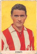 """D6298 """"CONTI OLIVIERO - LANEROSSI""""  FIGURINA ORIGINALE CARTONATA DELLA S.T.E.F. - TORINO NR. 142 - 1959/1960 - Trading Cards"""