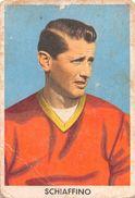 """D6302 """"SCHIAFFINO JUAN ALBERTO - ROMA""""  FIGURINA ORIGINALE CARTONATA DELLA S.T.E.F. - TORINO NR. 206 - 1960/1961 - Trading Cards"""