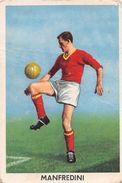 """D6303 """"MANFREDINI PEDRO - ROMA""""  FIGURINA ORIGINALE CARTONATA DELLA S.T.E.F. - TORINO NR. 205 - 1960/1961 - Trading Cards"""