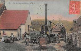 AGRICULTURE  -  Le Battage Des Blés ( Beau Plan Animé D'une Batteuse Mécanique ) - Cultures