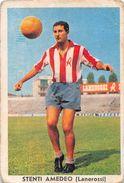 """D6307 """"STENTI AMEDEO - LANEROSSI""""  FIGURINA ORIGINALE CARTONATA DELLA S.T.E.F. - TORINO 1960/1961 - Trading Cards"""