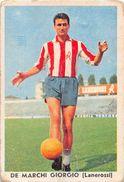 """D6309 """"DE MAECHI GIORGIO - LANEROSSI""""  FIGURINA ORIGINALE CARTONATA DELLA S.T.E.F. - TORINO 1957/1958 - Trading Cards"""