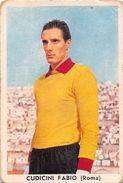"""D6314 """"CUDICINI FABIO - ROMA""""  FIGURINA ORIGINALE CARTONATA DELLA S.T.E.F. - TORINO 1958/1959 - Trading Cards"""