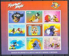 MylA398b WALT DISNEY MICKEY MOUSE 70 YEARS PLUTO HOND DOG RUNAWAY BRAIN UGANDA 1998 PF/MNH # - Disney