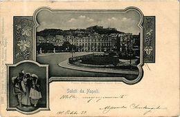 ITALY PC Saluti Da Napoli Piazza Vittoria E Castello Sant Elmo (a35) - Napoli (Naples)