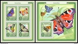 SOLOMON Isl. 2017 - Butterflies. M/S + S/S - Vlinders