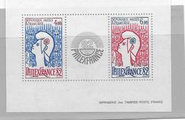 France,1982, Y&T N°2216/2217** Philex France 82 - Mint/Hinged