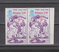 FRANCE / 1978 / Y&T N° 2020 ** : Sports Pour Tous X 2 En Paire Dont 1 BdF D - Gomme D'origine Intacte - Neufs
