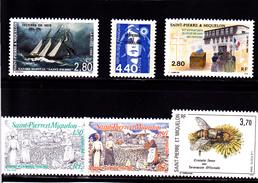 SPM 1994 N° 589-594-595-596-597-598-  Neufs **  - Voir Verso & Descriptif - - Unused Stamps
