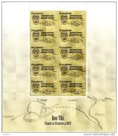 POLYNESIE FRANCAISE Neuf** N° 814  60ème Anniversaire De L´arrivée Du Radeau Kon-Tiki Feuille De 10 - Französisch-Polynesien