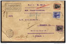 A3336) DR Wertbrief Von Berlin 19.5.1916 Nach Norwegen Mit Postamts- Und Militärzensur - Deutschland