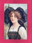 Folklore, Costume, ALSACIENNE, Signée M. Edwin, (SID) - Kostums