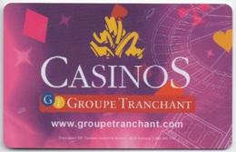 Carte De Membre Casino : Groupe Tranchant Casinos - Casino Cards
