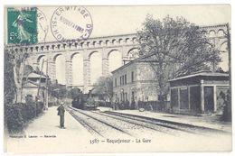 Cpa Roquefavour - La Gare  ( Train )     (S.2361) - Roquefavour