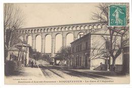 Cpa Roquefavour - La Gare  Et L'aqueduc     (S.2362) - Roquefavour