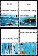 Guernsey, 1988, 426/29, Motorboot WM. Motorboat World Championship. MNH **, - Guernesey