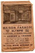 Folkestone Maison Faraoni Sandgate Road Enveloppe Pub - Publicités