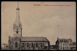 GISTEL - GHISTELLES - L'EGLISE AVEC SA NOUVELLE TOUR ET LE DOYENNE - Gistel