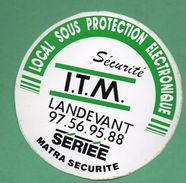 ITM SECURITE LANDEVANT  / AUTOCOLLANT - Autocollants