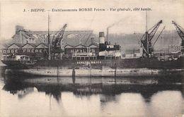 76-DIEPPE- ETABLISSEMENT ROBBE FRERES, VUE GENERALE, CÔTE BASSIN - Dieppe